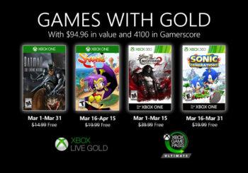 Anunciados los Games with Gold de marzo