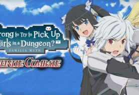 Lanzamiento: Is It Wrong to Try to Pick Up Girls in a Dungeon? Infinite Combate